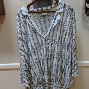 Anthropologie dollman sleeve top